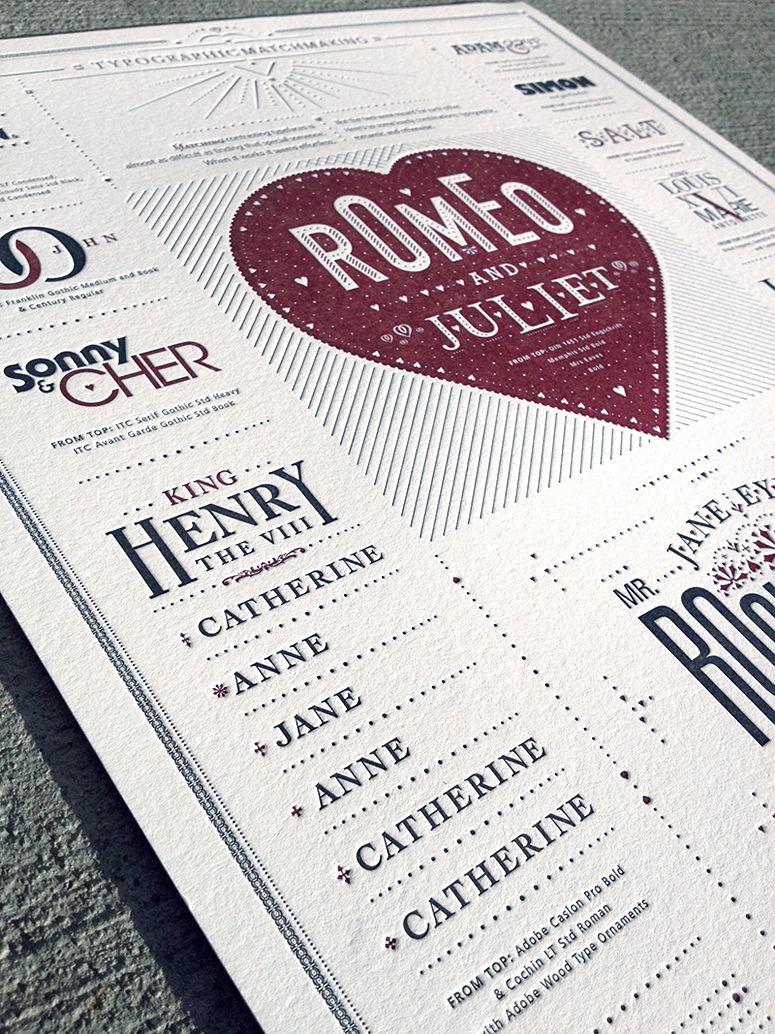 Typographic Matchmaking Poster