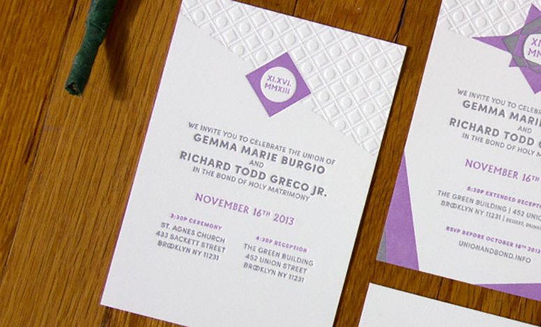 Union and Bond Wedding Invitations