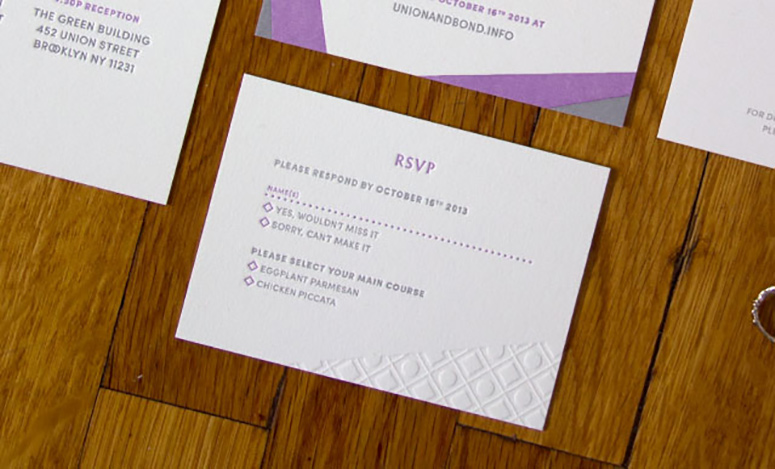 Union and Bond Wedding Invitations