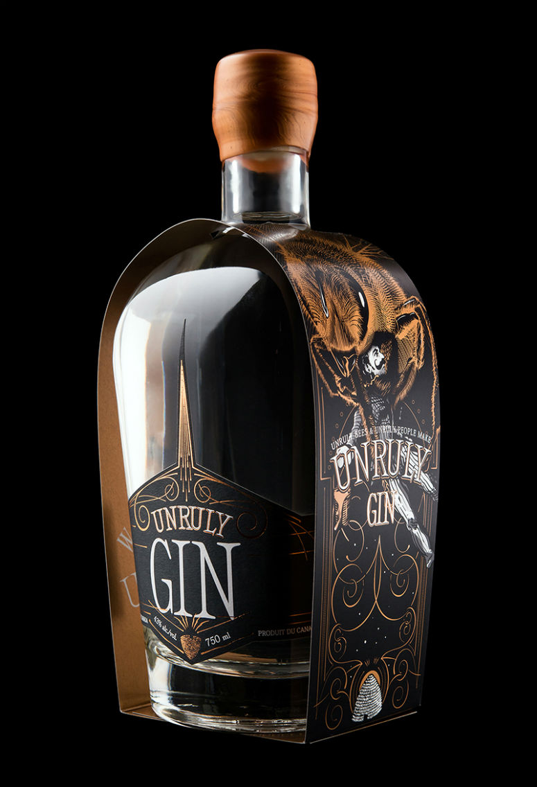 Unruly Gin/Vodka Packaging