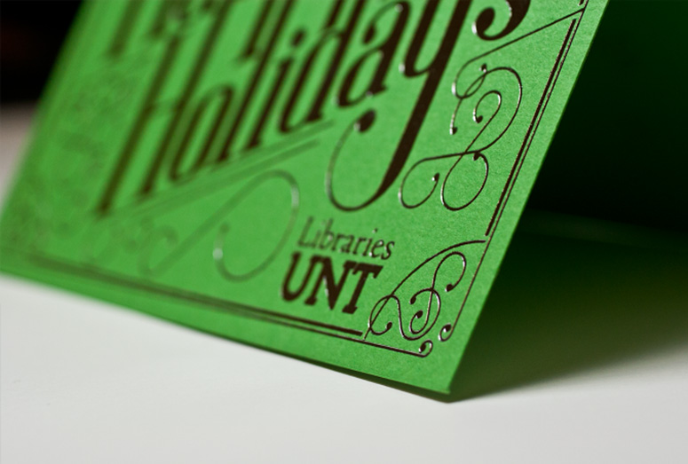 University of North Texas Libraries Christmas Card