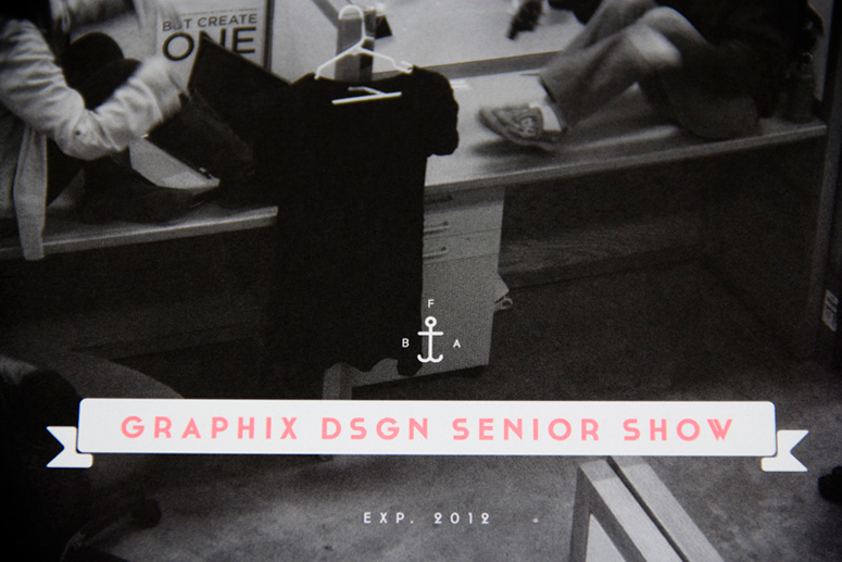 University of Tennessee, Knoxville BFA Graphic Design Senior Show Invitation