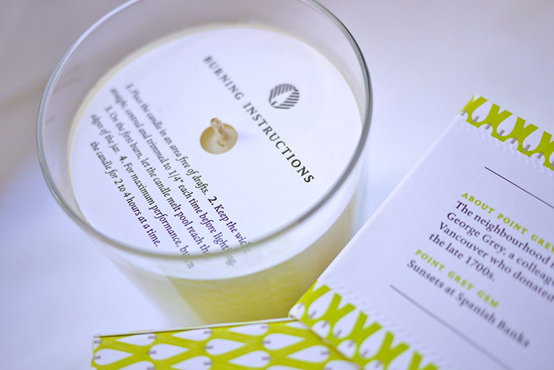Vancouver Candle Co. Soy Candle Packaging