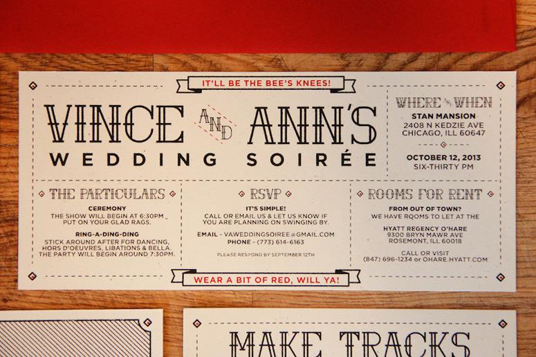 Vince and Ann's Wedding Soirée Invitations