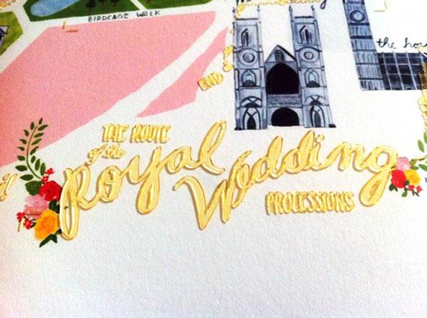Royal Wedding Processional Map Poster