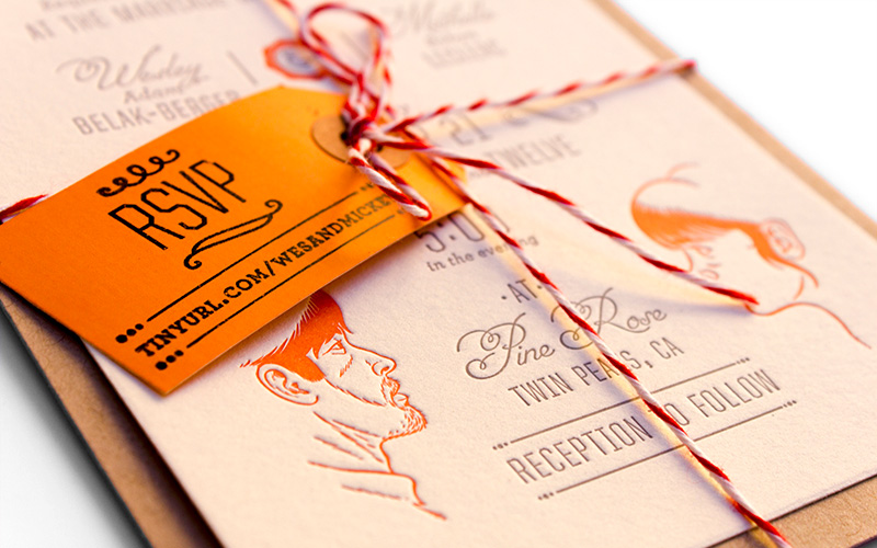 Wes Mickey Get Hitched Wedding Invitations