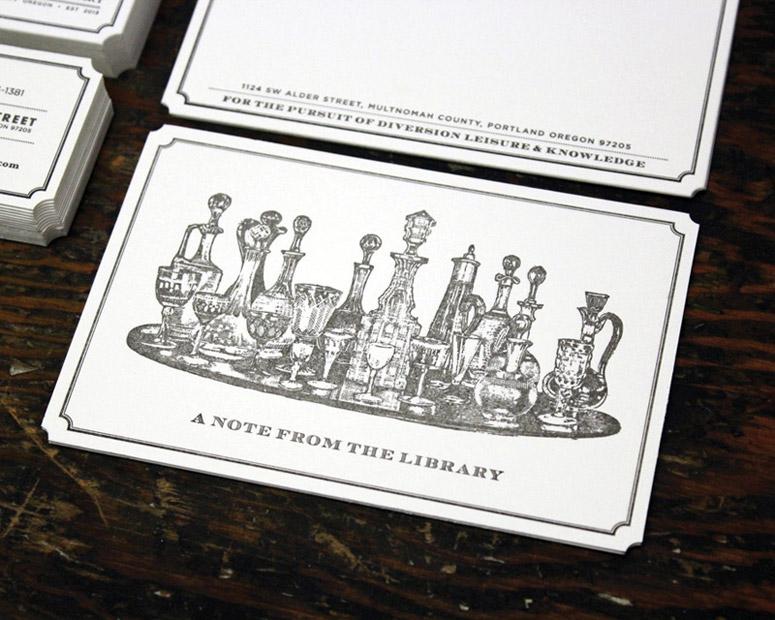 Multnomah Whiskey Library Stationery