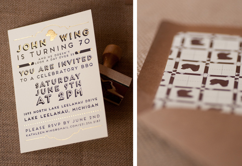 John Wing 70th Birthday Party Invitation