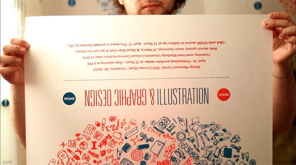 Winthrop University Illustration and Graphic Design Senior Show Poster