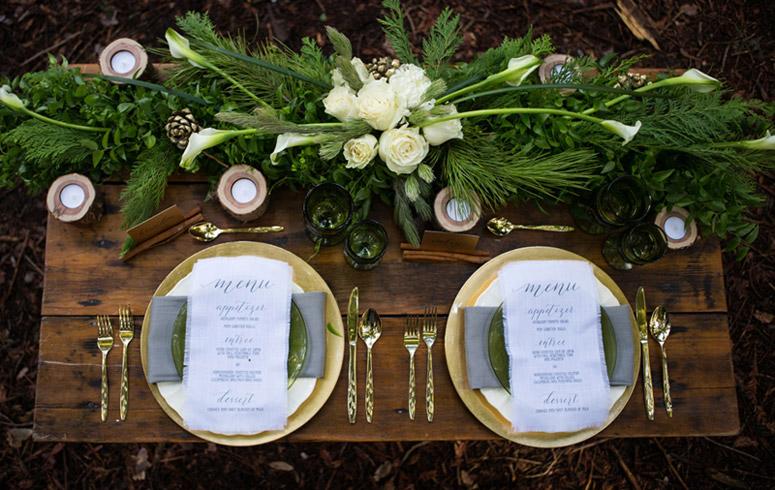 Winter Woodland Wedding Menu