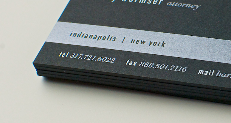 Wormser Legal Business Cards