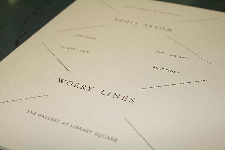 Worry Lines Art Exhibit Announcement