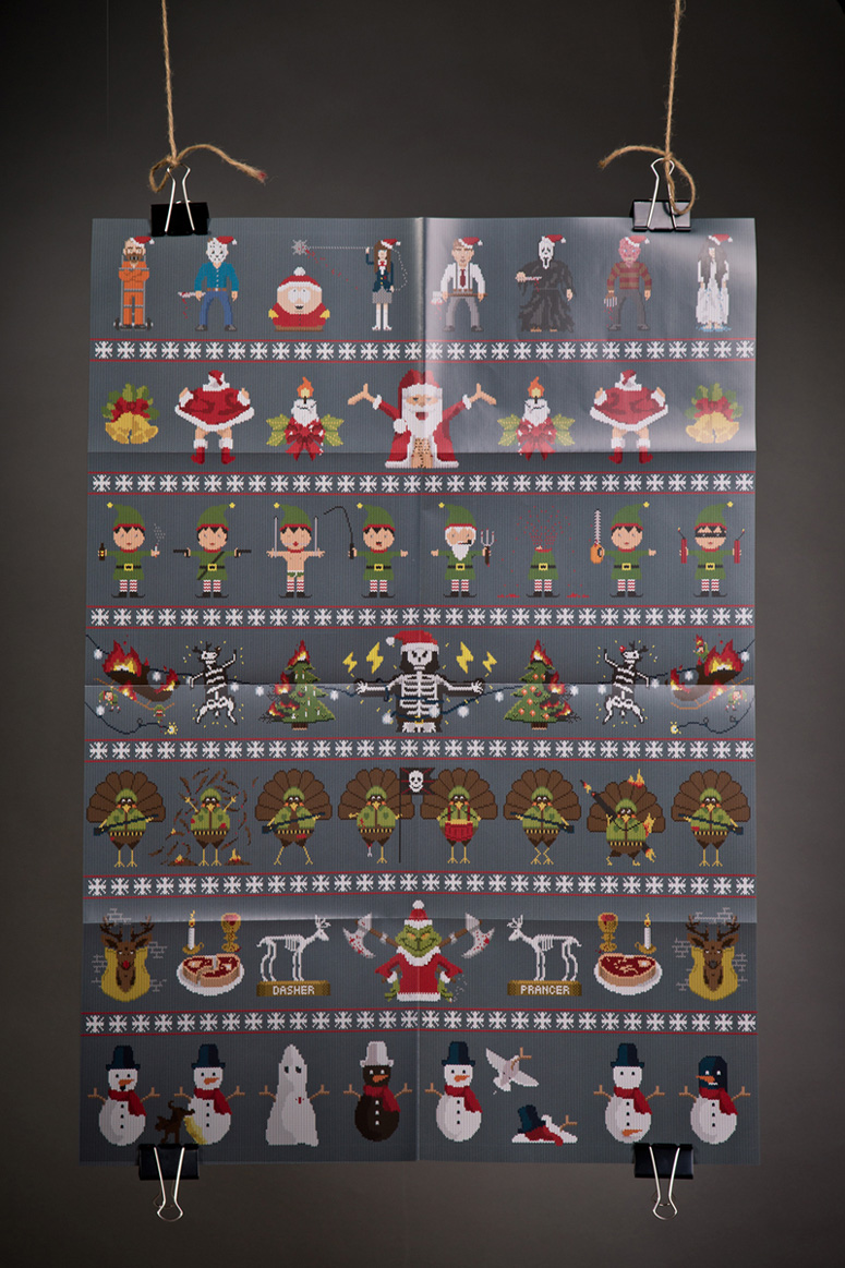 Xmassacre Santapocalypse Wrapping Paper