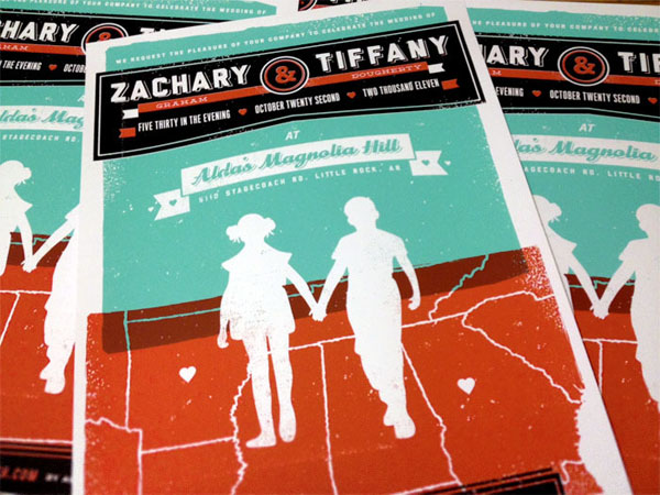 Zachary and Tiffany Wedding Invitation
