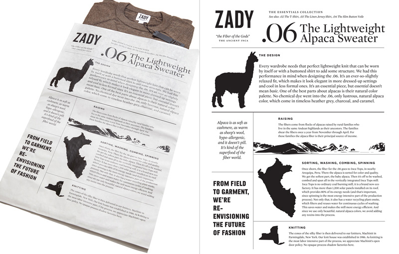 Zady Essentials Collection Packaging