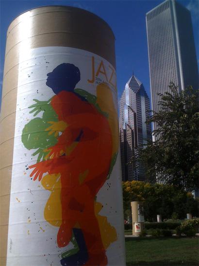 Chicago International Poster Biennial in Daley Bicentennial Park