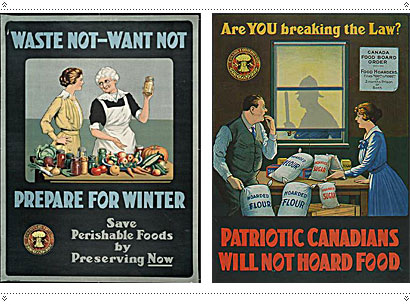 During WWI, the Canada Food Board issued these posters: