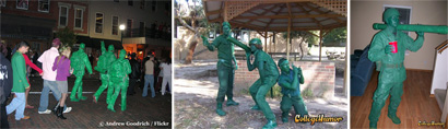 Grown Men dressed as Army Men