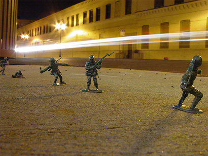 Army Men on the Streets, Photo by Fuzzy Gerdes