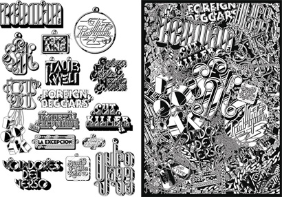 Alex Trochut: Customized 70s typefaces to promote the Cultura Urbana Hip Hop Festival, commissioned by Inocuo The Sign