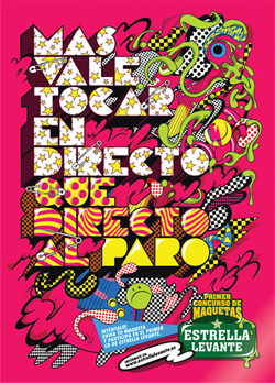 Alex Trochut: Posters for band contest, hosted by beer label Estrella Levante