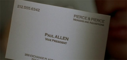 American Psycho, Business Card Scene