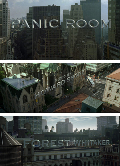 Panic Room Opening Titles