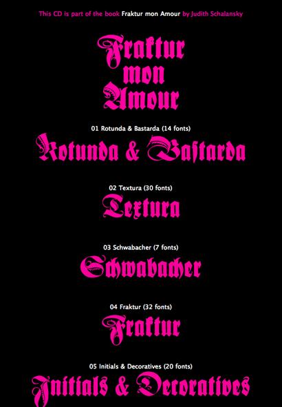 Fraktur Mon Amour CD
