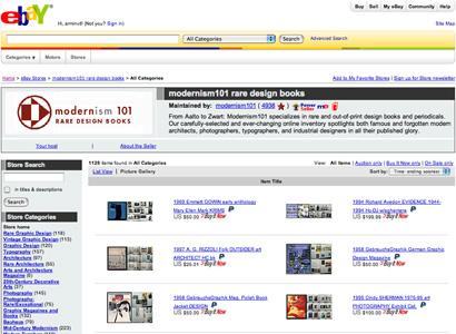 Modernism 101 eBay Store