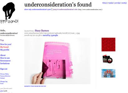 UnderConsideration's ffffound