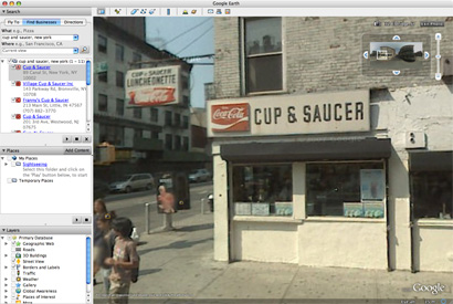 Google Earth Cup and Saucer Sign