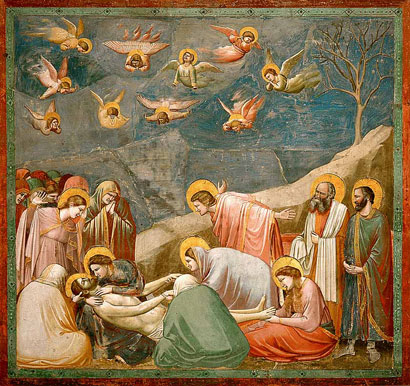 Giotto The Lamentation over the Dead Christ, Arena Chapel, Padua.