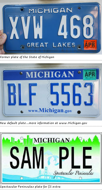 Michigan State Plates, Then and Now